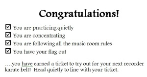 Recorder Line ticket