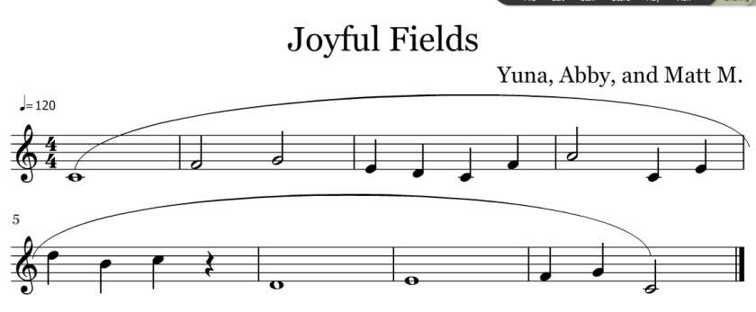 keeley joyful fields yuna abby matt m